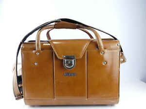 NIKON FB-11 COMPARTMENT TAN BROWN LEATHER CARRY HARD CAMERA CASE MM
