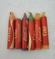 Vintage Coca Cola Coke Tin Candle Holder & 6 Jumbo Emergency Candles