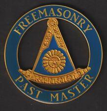 "Freemasonry Past Master With Square Metal Adhesive Car Emblem 3"""
