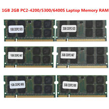1/2GB DDR2 553/667/800Mhz PC2-4200/5300/6400S SODIMM 200Pin Laptop Memory RAM BE