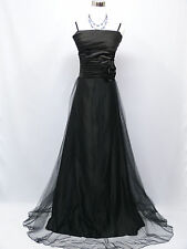 Cherlone Plus Size Black Ballgown Bridesmaid Formal Wedding/Evening Dress 18-20