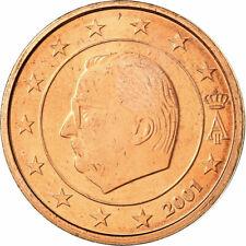 [#698877] Belgique, 2 Euro Cent, 2001, SPL, Copper Plated Steel, KM:225
