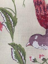 LAURA ASHLEY SUMMER PALACE CRANBERRY CURTAIN fabric 1metre/100cm x 137cm NEW