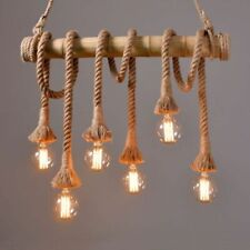 Pendants Vintage Bamboo Lamps Perfect For Dining/ Kitchen Areas With Head Lights