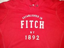 Abercrombie and Fitch A&F Vintage Women's Red Pull Over Hoodie Jacket Size L