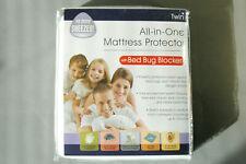 All In One Mattress Protector w Bed Bug Blocker - Twin Hypoallergenic Waterproof