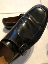 Salvatore Ferragamo Men's BLACK  Leather Buckle Oxford Shoes 10EE