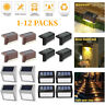 4/12X LED Solar Power LED Deck Lights Outdoor Yard Garden Stair Step Fence Lamps