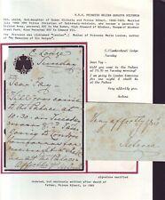 LETTER SIGNED PRINCESS HELENA CHRISTIAN SCHLESWIG-HOLSTEIN CUMBERLAND LODGE