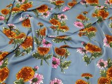 Floral Viscose Challis Fabric - Sold Per Metre