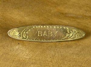 Vintage 'BABY' Brooch Signed AJC - Valentines Gift