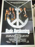 Vtg 1sheet 27x41 Movie Poster Rude Awakening 1989 Cheech Marin Robert Carradine