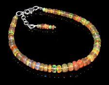 """Äthiopischer Feueropal Sterling Silber Armband Schmuck 7,5 """" Xmas Gift Sale #865"""