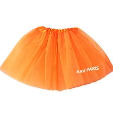 Tutu de Ballet Danse Soirée Jupe Jupon pour filles -  taille unique - orange