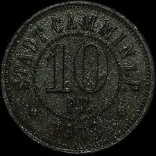 NOTGELD: 10 Pfennig 1918, Zink. F 76.3. STADT CAMMIN / POMMERN ⇒ KAMIEŃ POMORSKI