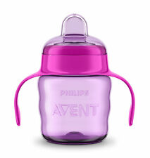 Philips Avent Pink Easy-Sip Soft Silicone Baby Spout Cup Handle BPA - 200ml