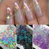 8 Bags Nail Glitter Sequins HALLOWEEN Star Flakes Paillette 3D Nail Art Tips