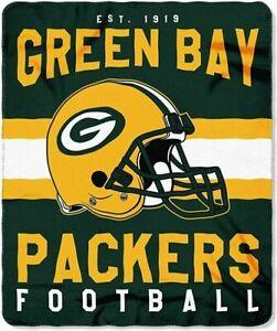 "Green Bay Packers NFL / Fleece Throw Blanket / Licensed Team LOGO / 50"" x 60"""