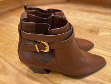 Valerie Stevens Johnnie Ankle Boots-Women's SZ 7.5N  Brown NWOB Or Tags