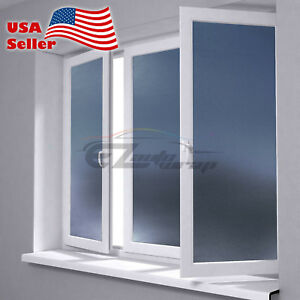 *Premium Color Frosted Film Glass Home Bathroom Window Security Privacy Sticker