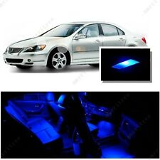For Acura RL 2007-2012 Blue LED Interior Kit + Blue License Light LED