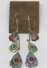 LUCKY BRAND Jewelry Vintage Feather Charm Drop Earrings RARE