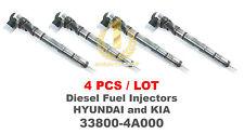 4PCS Bosch CRDI Diesel Fuel Injector 33800 4A000 for H1 Starex, Sorento