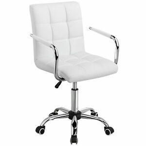 Faux Leather Swivel Executive Office Chair Ergonomic Computer Desk Chairs Wheels