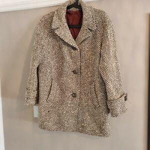 Vintage/Retro Irish Wool Women Coat Tweed
