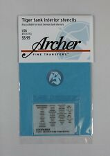 Archer 1/35 Tiger Tank Interior Stencils WWII (also suitable for others) AR35353