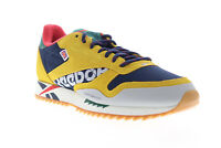 Reebok Classic Leather Ripple Altered Mens Yellow Low Top Sneakers Shoes 10