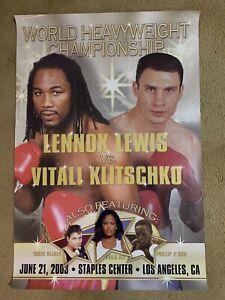 Lennox Lewis-Vitali Klitschko Original 2003 RARE On-Site POSTER Sold At theFight