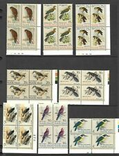 1970 Stamps Norfolk Island Birds Blocks x 15  Mint Never Hinged 1c to $1