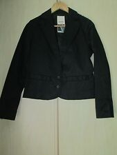 ladies DIESEL BLACK WAIST LENGHT JACKET / COAT SIZE XS