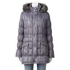 NWT Juniors' Urban Republic Hooded Faux-Fur Puffer Jacket Size XL $68