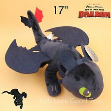 """How to Train Your Dragon Toothless Plush Night Fury Soft Toy Stuffed Animal 17"""""""