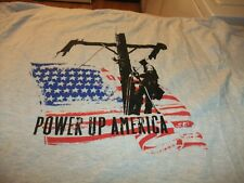 "2011 INTERNATIONAL LINEMAN'S RODEO ""POWER UP AMERICA"" T-SHIRT MEN'S SIZE XL"
