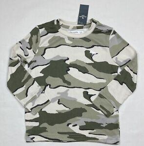 NWT Boys Abercrombie Kids Long Sleeve Camo T-shirt Size 7/8
