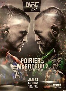 UFC 257 Poirier Vs McGregor 2 18x24 Official Fight Poster *NEW* Origional Print