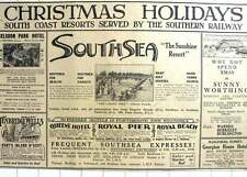 1927 Spend Your Christmas Holidays In Southsea, Tunbridge Wells Selsdon Park Hot