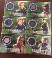 Stargate SG-1 Season 7 Costume Card Complete Set C22 - C27