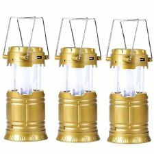 5800-T Rechargeable Solar Camping Lantern (Gold) Set of 3