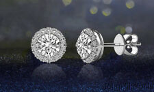 3.44 carat  Stud Earring in Sterling Silver Made with Swarovski Elements
