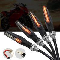 4x LED Clignotants de Moto Circuler Indicateur Lumière Voyant 12V Universel BA