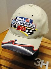 """MAC'S FROSTER 50"" LOGO HAT. LEGEND CAR RACING. EMBROIDERED GRAPHICS.  ADJ  3H"