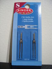 Sewing machine Singer 3mm Twin needles 1 pack #2025 90/14 embroidery stitches
