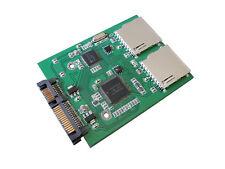 Adaptador 2 tarjetas memorias SD y SDHC a SATA - RAID 0 NATIVO