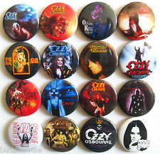 OZZY OSBOURNE Button Badges Pins Blizzard of Ozz Bark at the Moon Dee Lot of 16