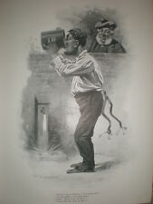 Water for the Whisky E S Hodgson cartoon 1901 print
