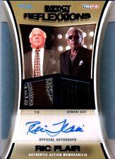 TNA Ric Flair 2012 Reflexxions Autograph Dual BLUE Suit & Tie Relic Card SN 6/25